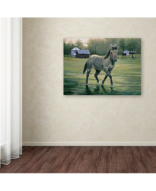 "Trademark Global Jenny Newland 'In The Pasture' Canvas Art, 24"" x 32"""