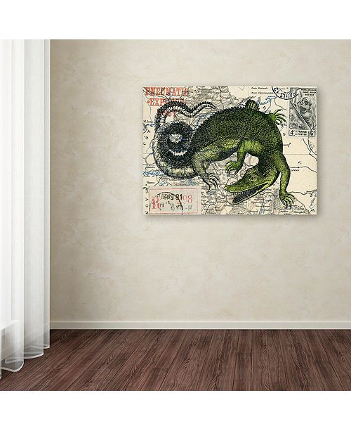 "Trademark Global Nick Bantock 'Croc Map' Canvas Art, 24"" x 32"""