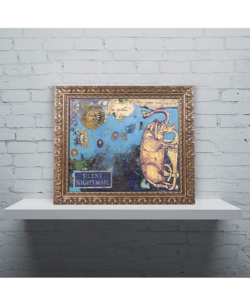 "Trademark Global Nick Bantock 'Silent Nightmail' Ornate Framed Art, 16"" x 20"""