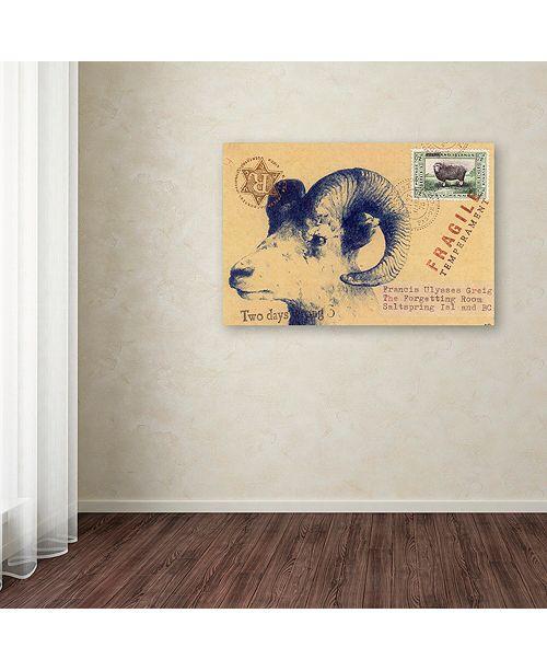 "Trademark Global Nick Bantock 'Ulysses' Canvas Art, 12"" x 19"""