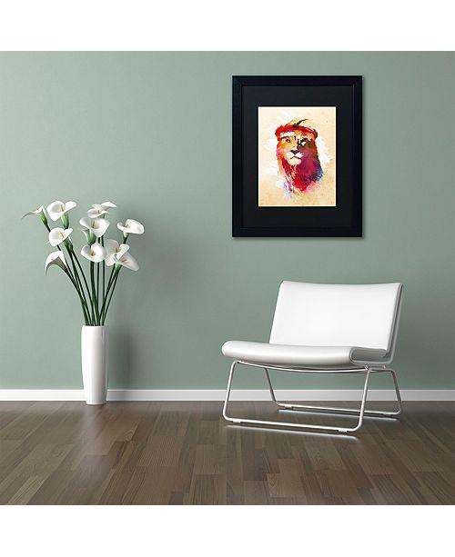 """Trademark Global Robert Farkas 'Gym Lion' Matted Framed Art, 11"""" x 14"""""""