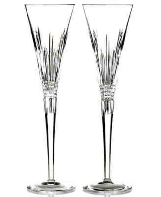 Stemware, Lismore Diamond Toasting Flutes, Set of 2