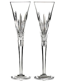 Stemware, Lismore Diamond Toasting Flute Pair