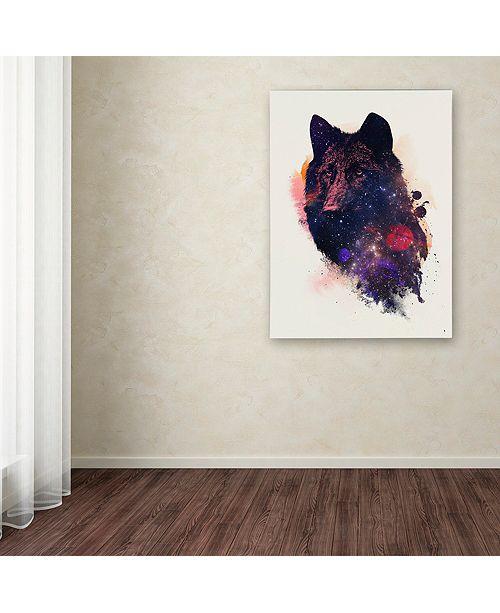 """Trademark Global Robert Farkas 'Universal Wolf' Canvas Art, 18"""" x 24"""""""