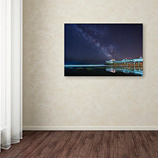 Michael Blanchette Photography 'Pier in the Stars' Canvas Art