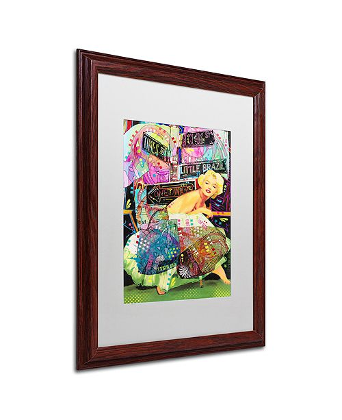 """Trademark Global Dean Russo 'Marilyn In NYC' Matted Framed Art, 16"""" x 20"""""""