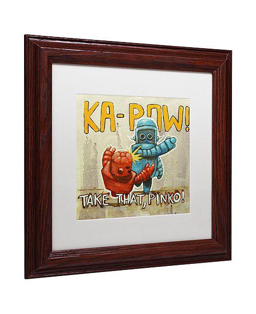 "Trademark Global Craig Snodgrass 'Take That Pinko' Matted Framed Art, 11"" x 11"""