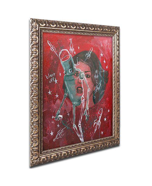 "Trademark Global Craig Snodgrass 'Blast-Off' Ornate Framed Art, 11"" x 14"""