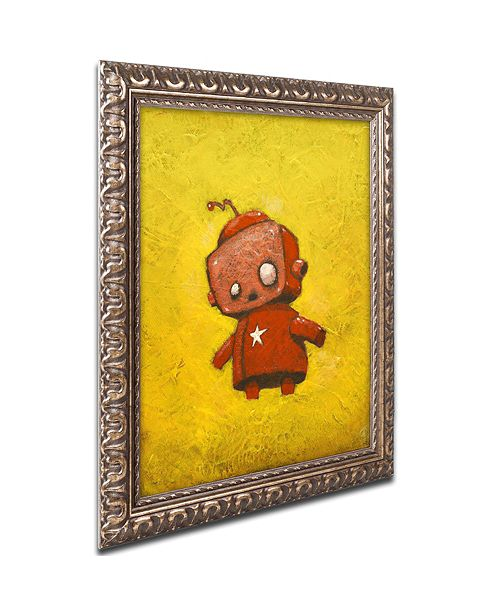 "Trademark Global Craig Snodgrass 'Red Robot Star' Ornate Framed Art, 16"" x 20"""