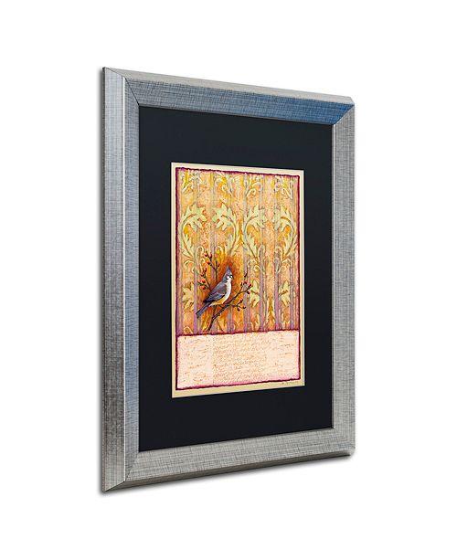 """Trademark Global Rachel Paxton 'Titmouse on Wallpaper' Matted Framed Art, 16"""" x 20"""""""