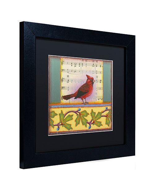 """Trademark Global Rachel Paxton 'Small Bird 237A' Matted Framed Art, 11"""" x 11"""""""