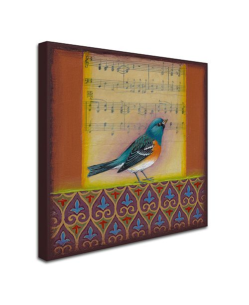 "Trademark Global Rachel Paxton 'Indigo Bunting' Canvas Art, 14"" x 14"""