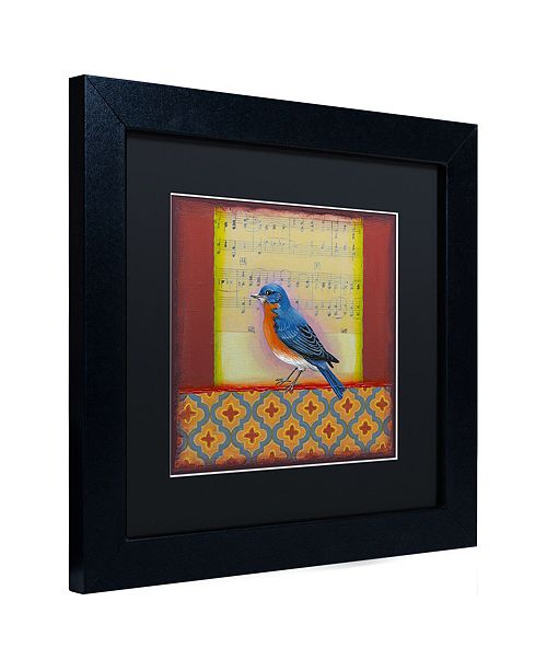 "Trademark Global Rachel Paxton 'Bluebird' Matted Framed Art, 11"" x 11"""