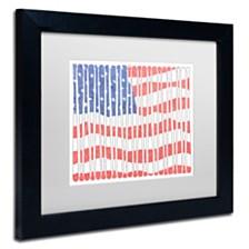 """Viz Art Ink 'America's Pastime' Matted Framed Art, 11"""" x 14"""""""