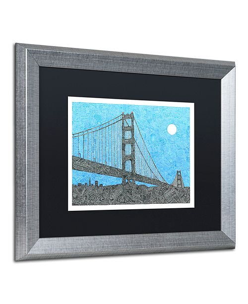 "Trademark Global Viz Art Ink 'Welcome To The Bay' Matted Framed Art, 16"" x 20"""