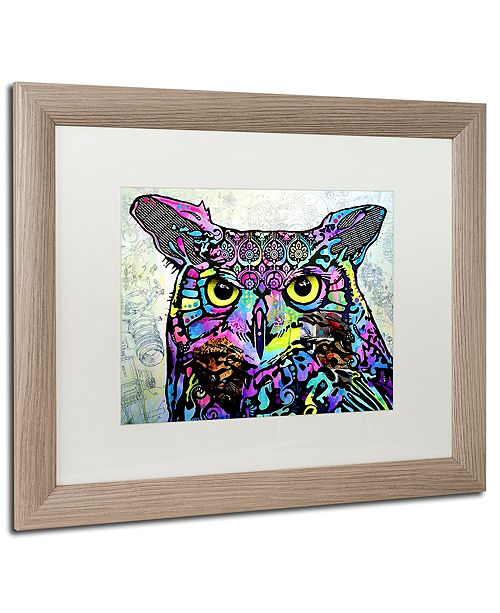 "Trademark Global Dean Russo 'The Owl' Matted Framed Art, 16"" x 20"""