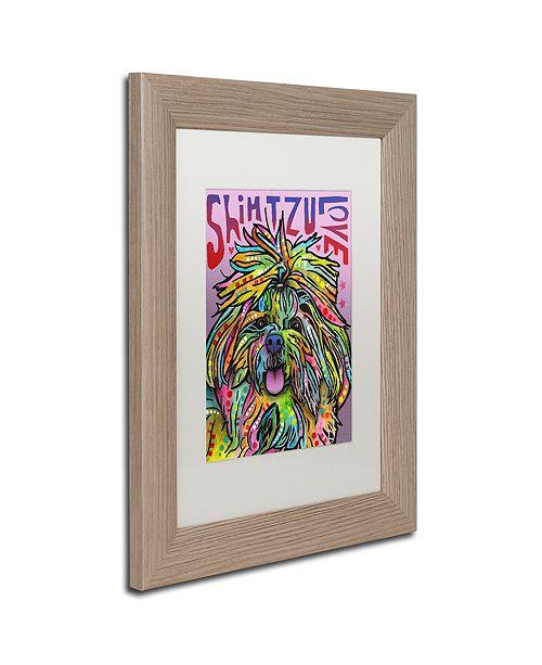 "Trademark Global Dean Russo 'Shih Tzu Luv' Matted Framed Art, 11"" x 14"""