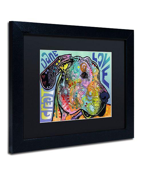 "Trademark Global Dean Russo 'Great Dane Luv' Matted Framed Art, 11"" x 14"""