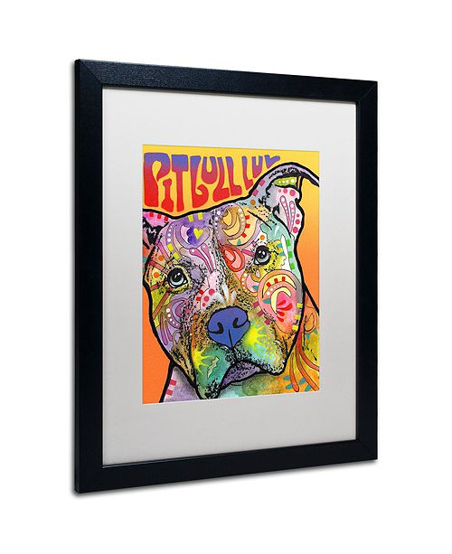"Trademark Global Dean Russo 'Pit Bull Luv' Matted Framed Art, 16"" x 20"""