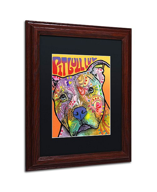 """Trademark Global Dean Russo 'Pit Bull Luv' Matted Framed Art, 11"""" x 14"""""""