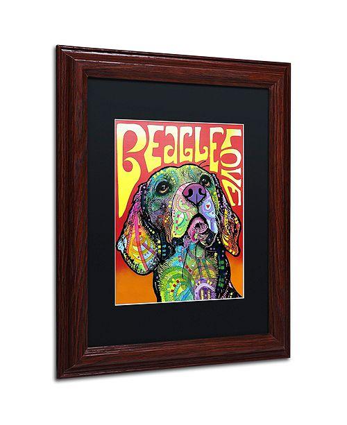 """Trademark Global Dean Russo 'Beagle Love' Matted Framed Art, 11"""" x 14"""""""