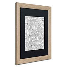 Hello Angel 'Live Laugh Love' Matted Framed Art