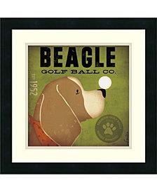 Amanti Art Beagle Golf Ball Co. Framed Art Print