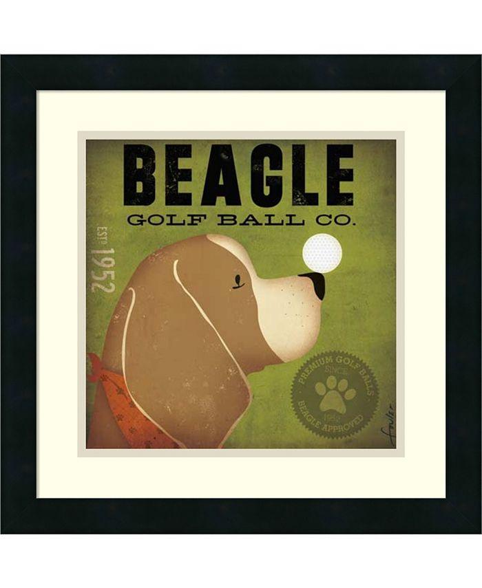 Amanti Art - Beagle Golf Ball Co. 18x18 Framed Art Print
