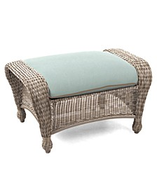 Sandy Cove Wicker Outdoor Ottoman, with Sunbrella® Cushions, Created for Macy's