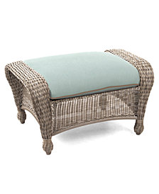 Sandy Cove Wicker Outdoor Ottoman, Created for Macy's