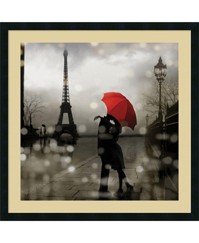 Amanti Art - Paris Romance 34x34 Framed Art Print
