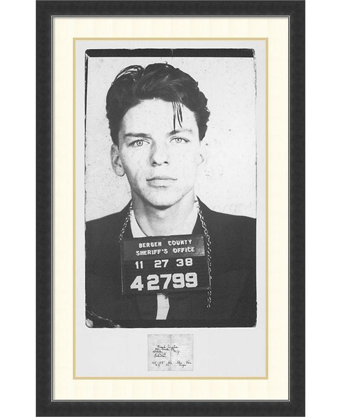 Amanti Art - Frank Sinatra Mugshot 28x43 Framed Art Print