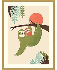 Mama Sloth  Framed Art Print