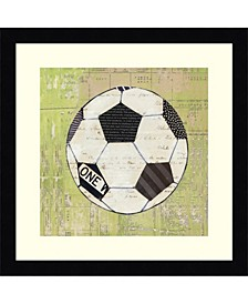 Baseball Play Ball I Soccer  Framed Art Print