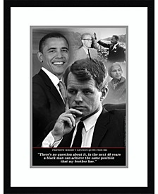 Robert F. Kennedy Prophetic Quote, 1968 Framed Art Print