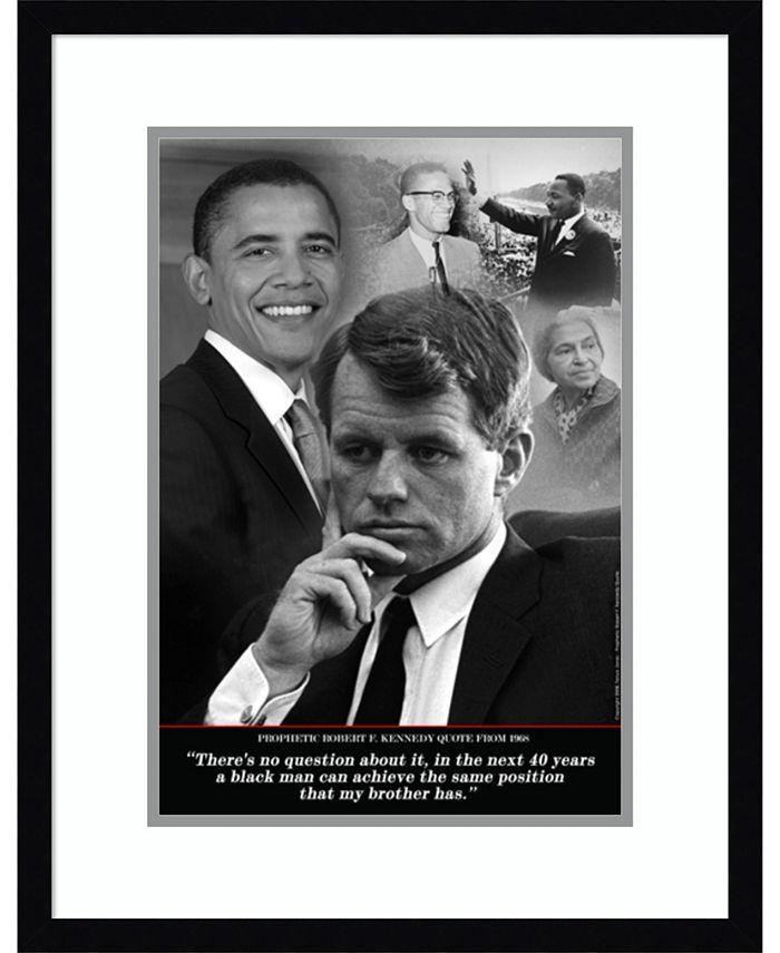Amanti Art - Robert F. Kennedy Prophetic Quote, 1968 (Obama) 19x25 Framed Art Print