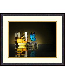 Amanti Art Butterfly Drink  Framed Art Print