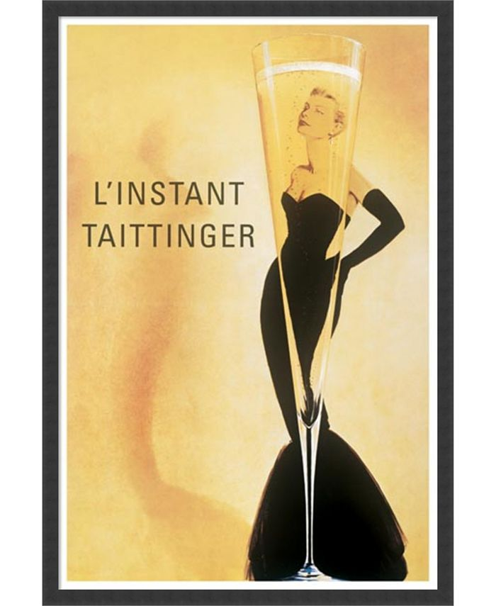 Amanti Art - L'Instant Taittinger by Vintage- 25x37 Framed Art Print