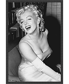 Amanti Art Marilyn Monroe Smiling- Framed Art Print