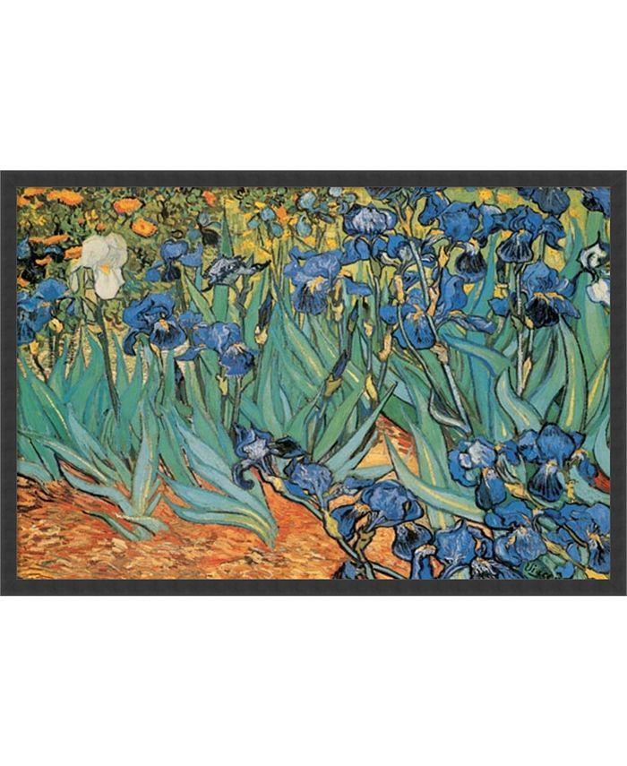 Amanti Art - Garden Of Irises by Vincent van Gogh- 37x25 Framed Art Print