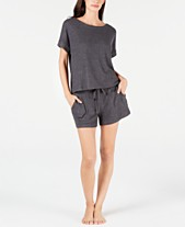Alfani Ribbed Hacci Sleep Top   Pajama Shorts Sleep Separates c435ec1a7f77