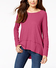 Style & Co Petite Seamed High-Low Top, Created for Macy's