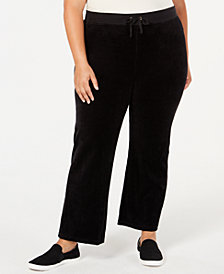 Juicy Couture Juniors' Plus Size Mar Vista Velour Pants