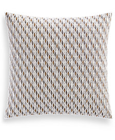 """Hotel Collection Lateral 400-Thread Count 18"""" Square Decorative Pillow, Created for Macy's"""