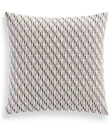 """Hotel Collection Lateral 18"""" Square Decorative Pillow, Created for Macy's"""