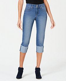 Style & Co Raw-Edge Cuffed Cropped Jeans, Created for Macy's