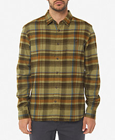O'Neill Men's Redmond Standard-Fit Yarn-Dyed Plaid Brushed Flannel Shirt