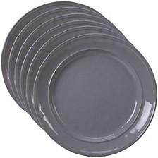 Orbit Solid Color - Grey 6-Pc. Salad Plate