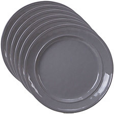 Certified International Orbit Solid Color - Grey 6-Pc. Salad Plate