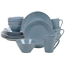 Harmony Solid Color - Teal 16-Pc. Dinnerware Set